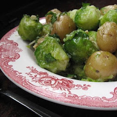 Parmesan Brussels Sprouts With New Potatoes