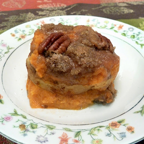 Sweet Potato & Apple Casserole w/ Pecan Crunch Topping