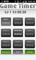 Screenshot of Game Timer