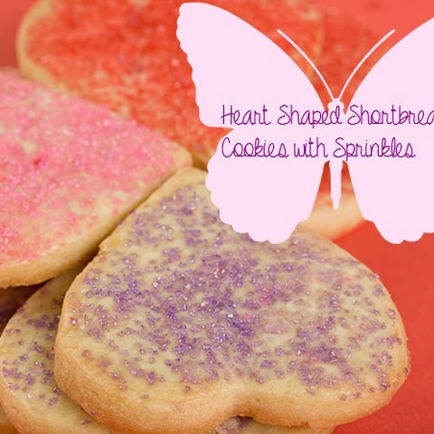 Easy cut-out shortbread sprinkle cookies for Valentine's Day