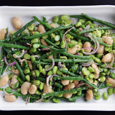Tripple color bean salad, with crispy mustard seeds