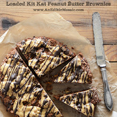 Loaded Kit Kat Peanut Butter Brownies
