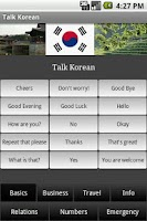 Screenshot of Talk Korean