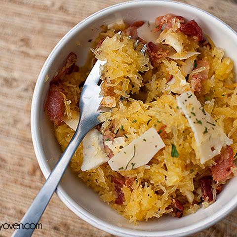 Spaghetti Squash with Garlic and Parmesan Recipe | Yummly