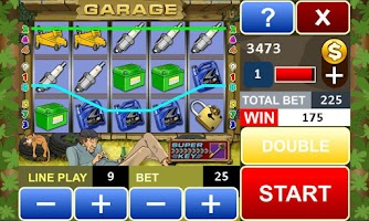 Screenshot of Garage slot machine