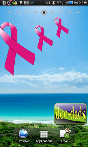 Breast Cancer Ribbon doo-dad
