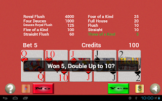 Screenshot of TouchPlay Deuces Wild Poker