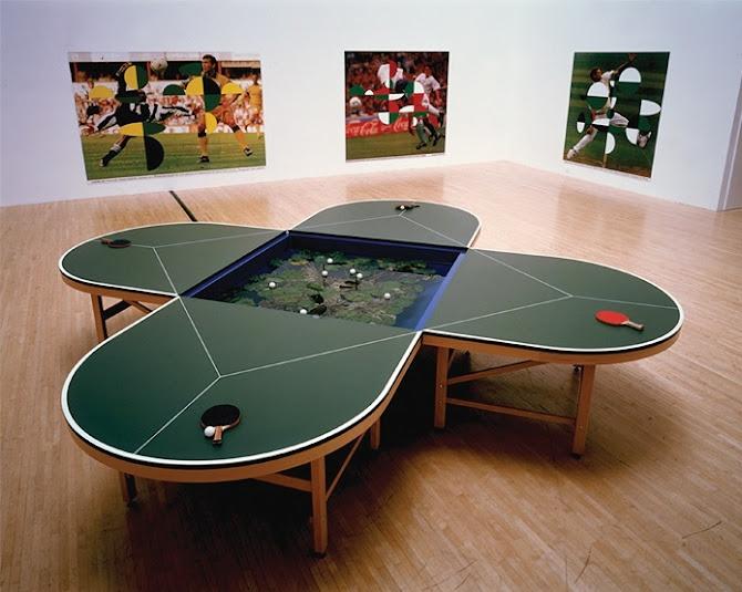 Négyszemélyes pingpongasztal - egy vicces kép