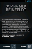 Screenshot of Somna med Reinfeldt