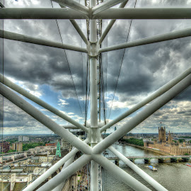 London Eye by Todd Thompson - Buildings & Architecture Architectural Detail ( london eye, london )