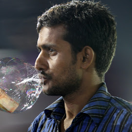 The Bubble's Man by Kunal Bhattacharya - People Street & Candids