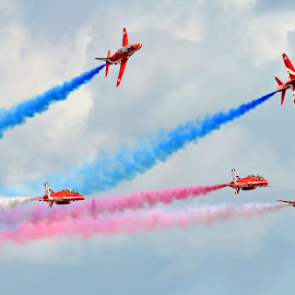 Red Arrows by Mark Bond - Transportation Airplanes ( red arrows )