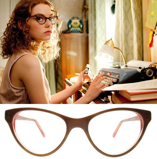 "Emma Stone in ""The Help"" wearing cat-eye glasses"