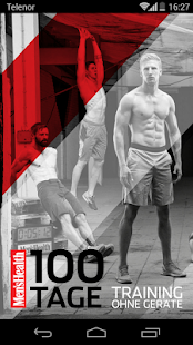 100 Tage Training ohne Geräte Fitness app screenshot for Android