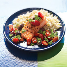 Tuscan Salmon with Rosemary Orzo