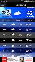Screenshot of ABC13 Houston Weather