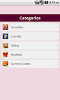 Screenshot of Drinks Recipes