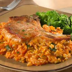 Pork Chops With Red Tomato Rice