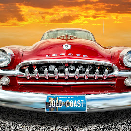 Desoto by Brett Warner - Digital Art Things ( hdr, vintage, sunset, road, restored, classic, photoshop, custom, desoto,  )