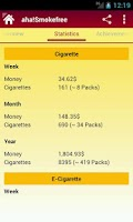 Screenshot of aha!Smokefree