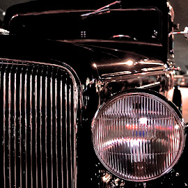 Oldie by Keith Thies - Transportation Automobiles ( car, old car, night photography, black and white, plymouth )