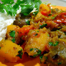 Oven-Roasted Eggplant and Butternut Squash Curry