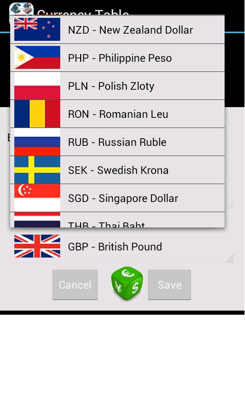 Currency Table (Ad-Free) Screenshot 3