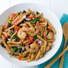 Gluten Free Chili Lime Shrimp Pasta Salad