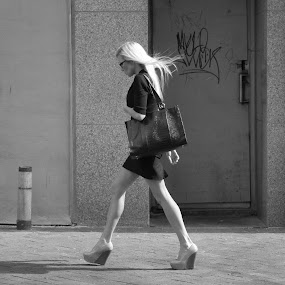 Who's That Girl? by Paul Hopkins - Black & White Street & Candid (  )