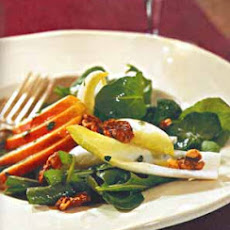 Pear, Arugula and Endive Salad with Candied Walnuts