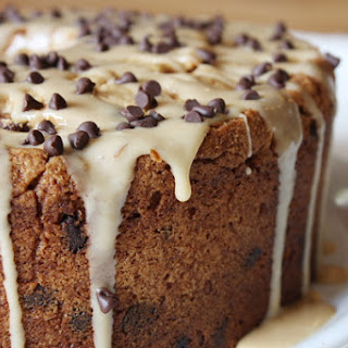 Chocolate Chip Peanut Butter Pound Cake w/ Peanut Butter Glaze