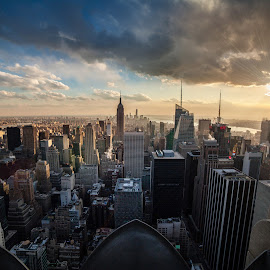Top of the Rockefeller NYC by J M - City,  Street & Park  Skylines