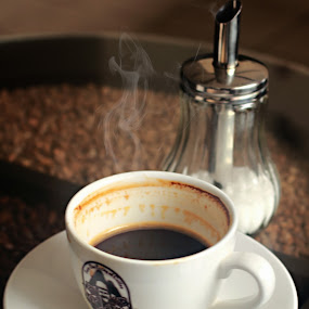 a Cup of Heaven by Pradono Gunawan - Food & Drink Alcohol & Drinks ( coffe, cup, hot drinks, hot, smoky, coffee, pwc, pwccoffee )