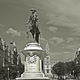 Cavaleiro na Praça by Lia Ribeiro - Buildings & Architecture Statues & Monuments