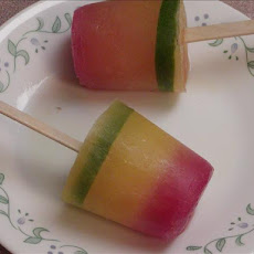 Tequila Sunrise Ice Pops