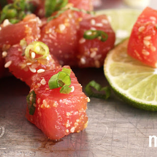 Ahi Tuna Ceviche with Sesame and Mint