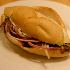 Grilled Chipotle Flank Steak Torta