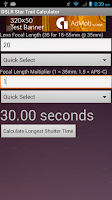 Screenshot of Star Trail Calculator