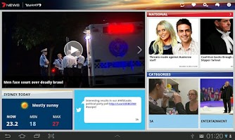 Screenshot of 7NEWS