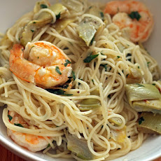 Shrimp Scampi with Artichokes