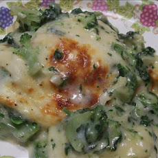 Ravioli Baked With Broccoli and Spinach