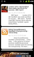 Screenshot of Handball News