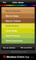 Screenshot of Montana Colors App