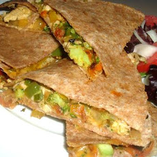 Leftover Chicken & Vegetable Quesadillas