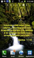 Screenshot of Versos Biblicos Live Wallpaper
