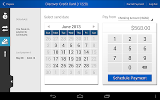 Screenshot of Tech Credit Union Mobile