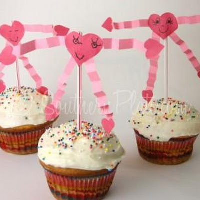 Valentine Cupcake Toppers – Southern Plate Kids Video!