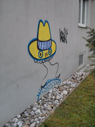 Yellow Hat Graffiti