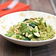 Pesto Risotto With Roasted Zucchini