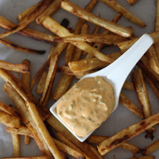 Paprika Parsnip Fries with Sriracha Dipping Sauce